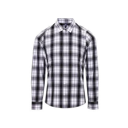 Ginmill Check Womens Long Sleeve Cotton Shirt von Premier Workwear (Artnum: PW354