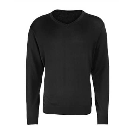 Men`s V-Neck Knitted Sweater von Premier Workwear (Artnum: PW694