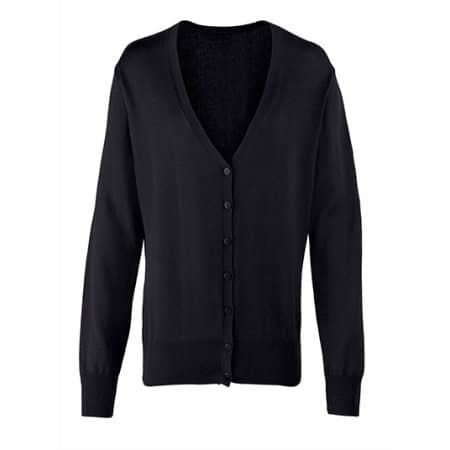 Ladies` Button Through Knitted Cardigan von Premier Workwear (Artnum: PW697