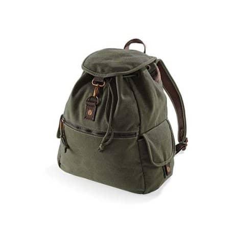 Vintage Canvas Backpack von Quadra (Artnum: QD612