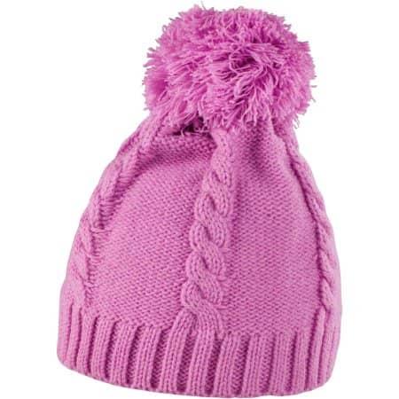 Pom Pom Beanie in Shocking Pink von Result Winter Essentials (Artnum: RC149