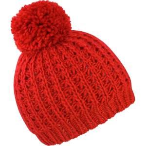 Knitted Flute Pom Pom Hat