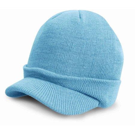 Esco Army Knitted Hat in Powder Blue von Result Winter Essentials (Artnum: RC60