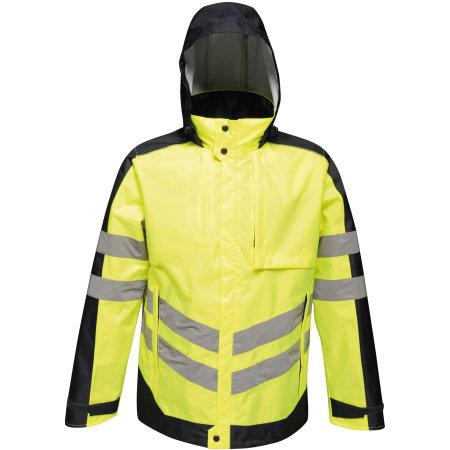 Hi-Vis Pro Insulated Jacket in Yellow|Navy von Regatta (Artnum: RG341