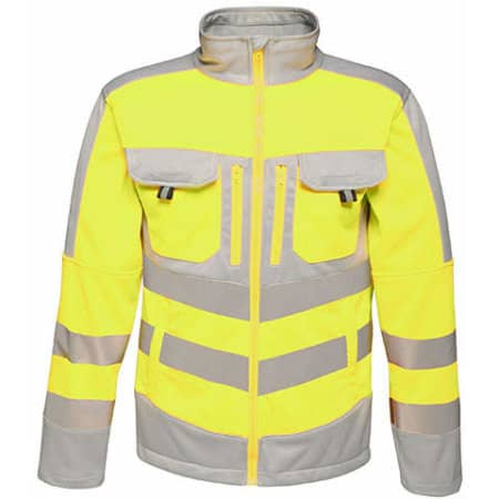 Hi-Vis Extol Stretch F/Z Jacket in Yellow|Grey von Regatta Tactical (Artnum: RG4730