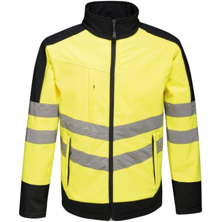 Hi-Vis Pro Softshell Jacket in Yellow|Navy von Regatta (Artnum: RG625