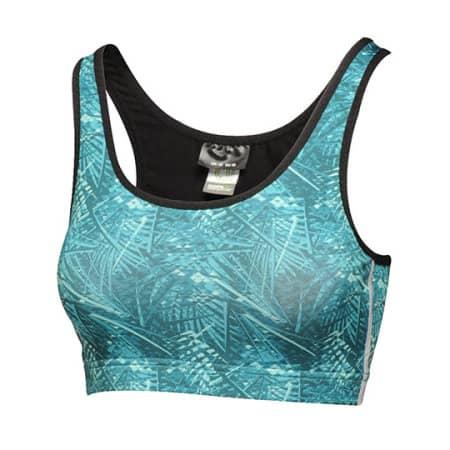 Asana Printed Bra Top in Ceramic von Regatta Activewear (Artnum: RGA186