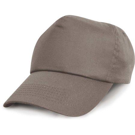 Cotton Cap in Grey von Result Headwear (Artnum: RH05