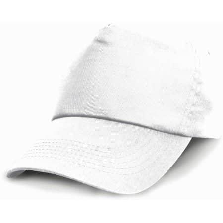 Junior Cotton Cap in White von Result Headwear (Artnum: RH05J