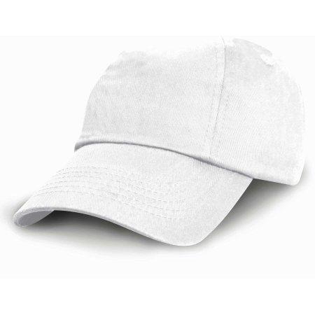 Junior Low Profile Cotton Cap in White von Result Headwear (Artnum: RH18J