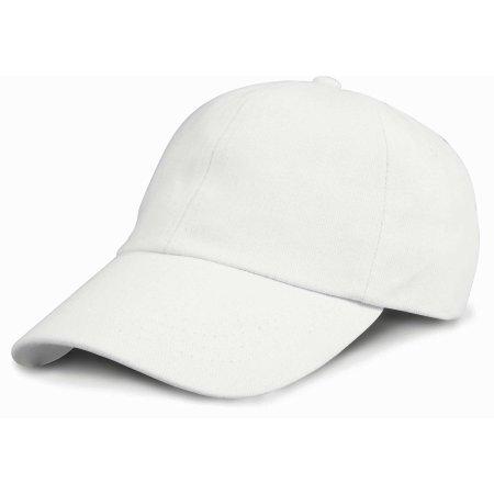 Junior Heavy Brushed Cotton Cap in White von Result Headwear (Artnum: RH24J