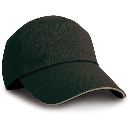 Herringbone Cap with Sandwich Peak von Result Headwear (Artnum: RH38