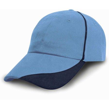 Heavy Brushed Cotton Cap in Sky|Navy von Result Headwear (Artnum: RH51
