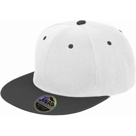 Bronx Dual Colour Cap in White|Black von Result Headwear (Artnum: RH82