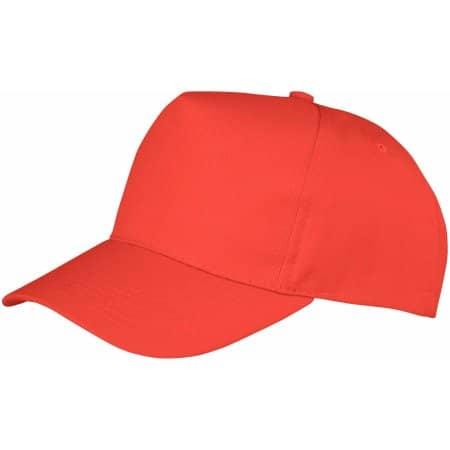 Boston 5-Panel Cap in Red von Result Headwear (Artnum: RH84