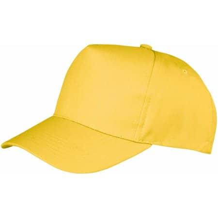 Boston 5-Panel Cap in Yellow von Result Headwear (Artnum: RH84
