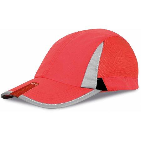 Sport Cap in Red|Black von Result Headwear (Artnum: RH86