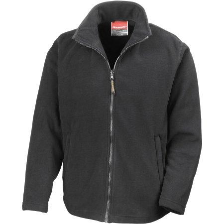 Horizon Micro Fleece Jacket in Black von Result (Artnum: RT115