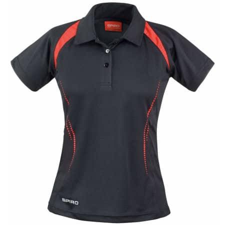 Ladies` Team Spirit Polo in Black Red von SPIRO (Artnum: RT177F