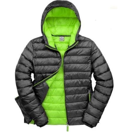 Men`s Snow Bird Padded Jacket in Black Lime von Result (Artnum: RT194M