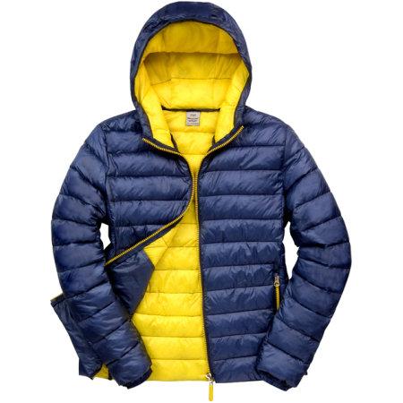 Men`s Snow Bird Padded Jacket in Navy Yellow von Result (Artnum: RT194M