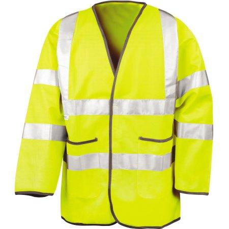 Lightweight Safety Jacket in Fluorescent Yellow von Result (Artnum: RT210