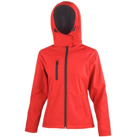 Ladies` TX Performance Hooded Soft Shell Jacket von Result Core (Artnum: RT230F