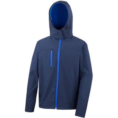 Men`s Core Lite Hooded Soft Shell Jacket in Navy Royal von Result Core (Artnum: RT230M