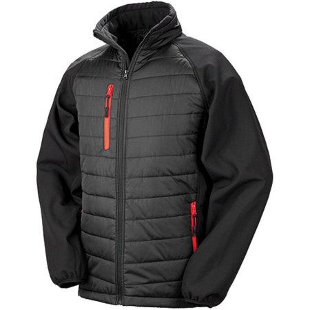 Black Compass Softshell Jacket in Black|Red von Result (Artnum: RT237