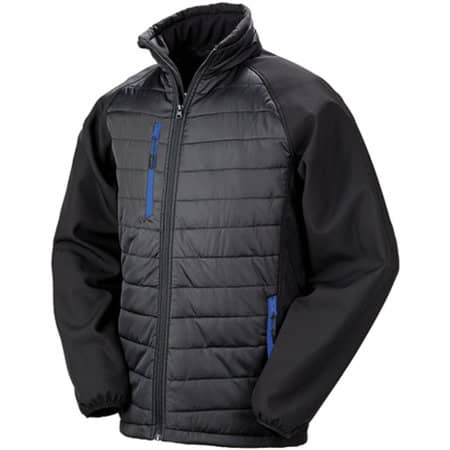 Black Compass Softshell Jacket in Black Royal von Result (Artnum: RT237