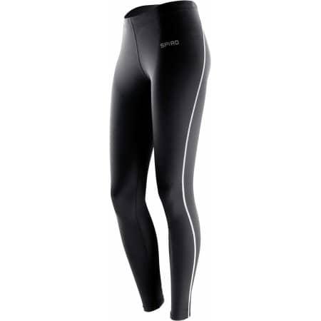 Ladies` Bodyfit Base Layer Leggings von SPIRO (Artnum: RT251F