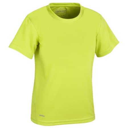 Junior Quick Dry T-Shirt in Lime von SPIRO (Artnum: RT253J