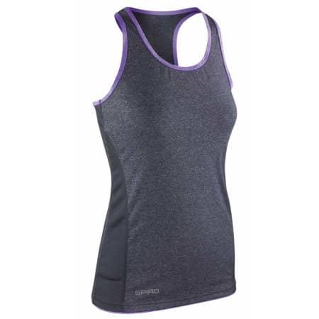 Women`s Stringer Back Marl Top in Phantom Grey|Lavender von SPIRO (Artnum: RT272F