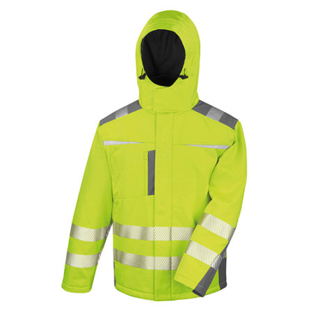 Dynamic Softshell Coat in Fluorescent Yellow von Result (Artnum: RT331
