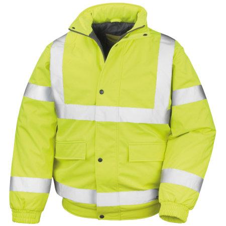 Result Safety Padded Softshell Blouson in Fluorescent Yellow von Result (Artnum: RT333
