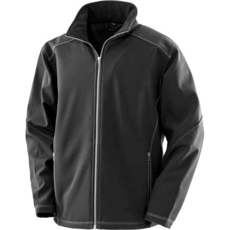 Men´s Treble Stitch Softshell Jacket von WORK-GUARD (Artnum: RT455M