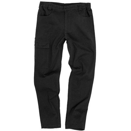Super Stretch Slim Chino in Black von WORK-GUARD (Artnum: RT470
