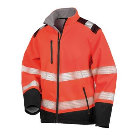 Printable Ripstop Safety Softshell Jacket von Safe-Guard (Artnum: RT476