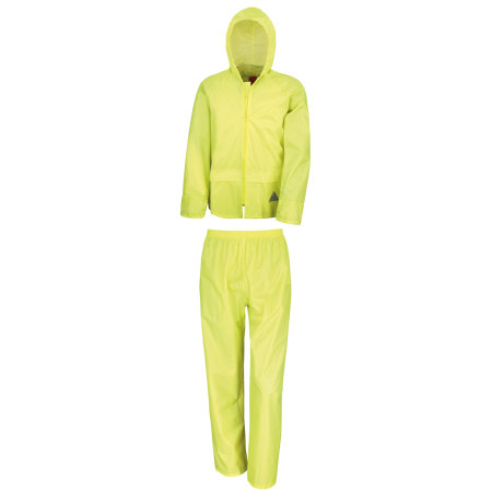 Waterproof Jacket & Trouser Set in Neon Yellow von Result (Artnum: RT95A