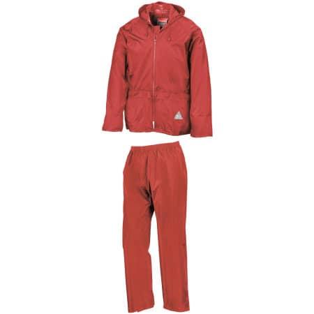 Waterproof Jacket & Trouser Set in Red von Result (Artnum: RT95A