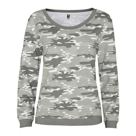 Malone Woman Sweatshirt in Camouflage Grey von Roly (Artnum: RY1032