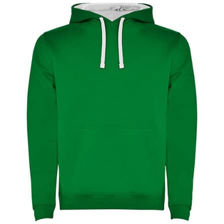 Urban Hooded Sweatshirt in Kelly Green White von Roly (Artnum: RY1067