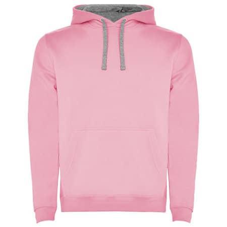 Urban Hooded Sweatshirt in Light Pink|Heather Grey von Roly (Artnum: RY1067