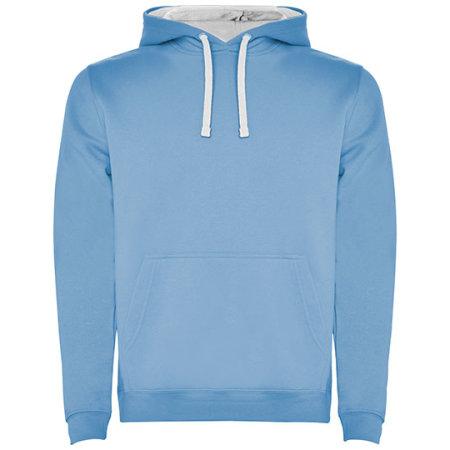 Urban Hooded Sweatshirt in Sky Blue|White von Roly (Artnum: RY1067