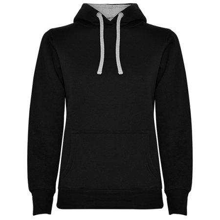 Urban Woman Hooded Sweatshirt in Black|Heather Grey von Roly (Artnum: RY1068