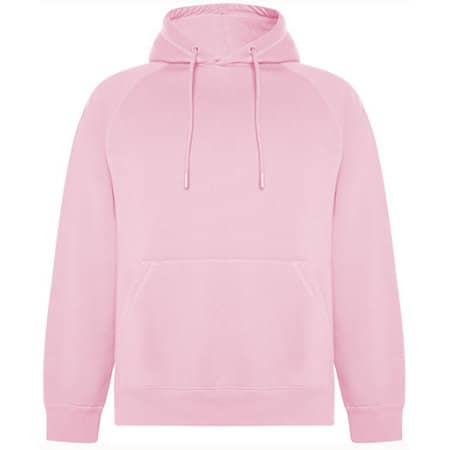 Vinson Organic Hooded Sweatshirt in Light Pink 48 von Roly Eco (Artnum: RY1074