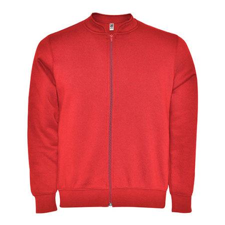 Elbrus Sweat-Jacket in Red von Roly (Artnum: RY1103
