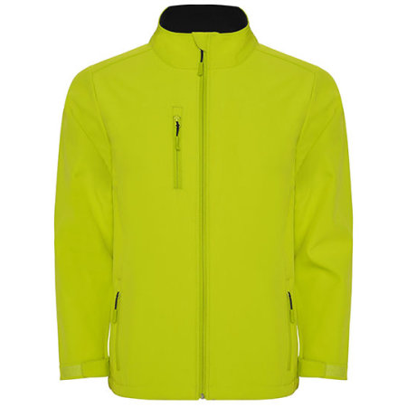 Nebraska Softshell Jacket in Lime Punch von Roly (Artnum: RY6436
