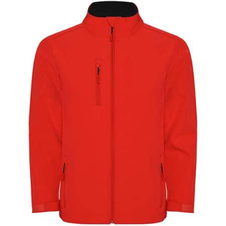 Nebraska Softshell Jacket in Red von Roly (Artnum: RY6436