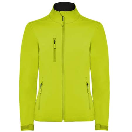 Nebraska Woman Softshell Jacket in Lime Punch von Roly (Artnum: RY6437